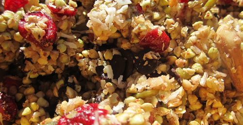 Raw Buckwheat Granola - Raw Recipe from Detox Trading