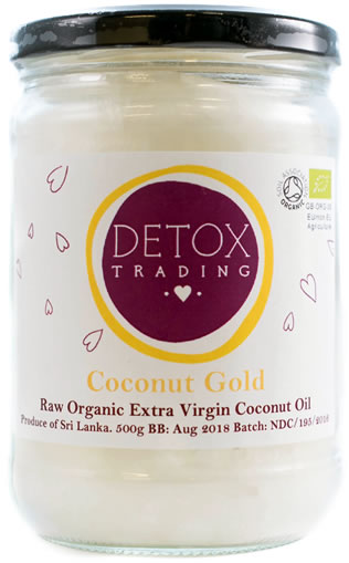 Organic Coconut Oil - Cold Pressed - from Detox Trading Superfoods